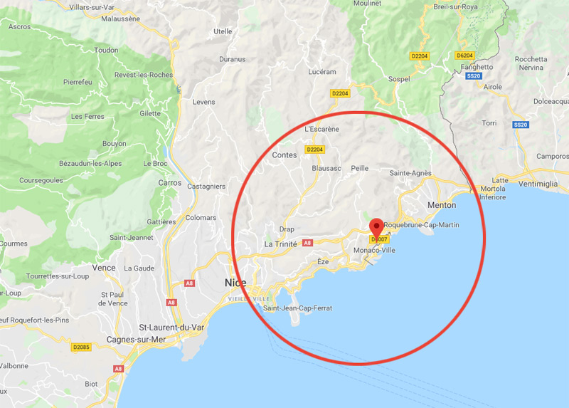 zone d'intervention de nos serruriers à Beausoleil